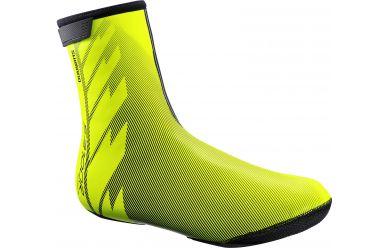 Shimano S1100R H2O Überschuh Atmungsaktiv, wärmendes wasserabweisendes Neopren, Reflektierend, Neon Gelb