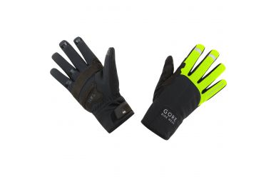 Gore Windstopper Thermo Handschuhe Langfinger Black Neon Yellow