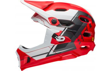 Bell Super DH Mips red/white/black M