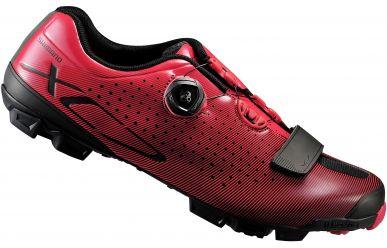 Shimano SH-XC7R MTB Schuh schwarz rot EU43 extra breit