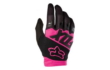 Fox Dirtpaw Race Handschuh Langfinger Black Pink