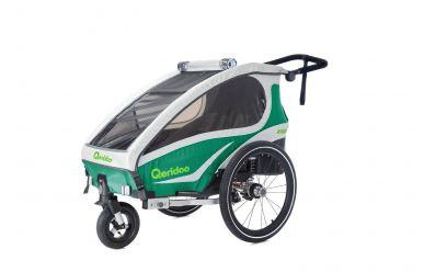Qeridoo KidGoo2 Kinderfahrradanhänger grün