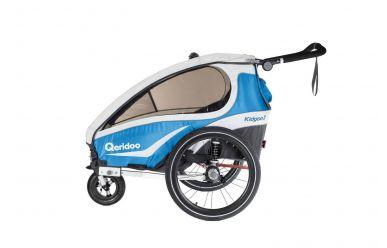 Qeridoo KidGoo2 Fahrradanhänger blau