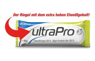 ultraSPORTS ultraBASE Pro Eiweißriegel Lemon Cocos 50gr. 50% Protein