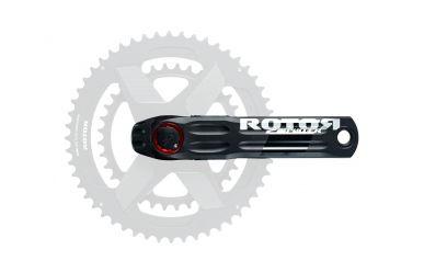 Rotor 2INpower Road Leistungsmesskurbel Directmount Matt Schwarz Rot