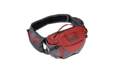 Evoc Hip Pack Pro 3L + 1.5L Trinkblase Carbon Grey  ChiliI Red