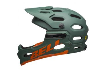 Bell Super 3R Mips Mat Dark Green Orange