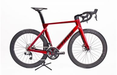 Factor ONE Disc komplett Bike mit Xentis Squad 5.8 Tubular Laufräder, Rotor 2Npower, Sram ETap Disc, Crimson Red 54cm