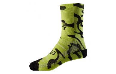 Fox Print Socken Yellow Black Design