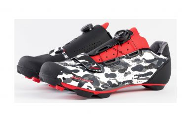 Bontrager Cambion MTB Schuh Camo Grey Red