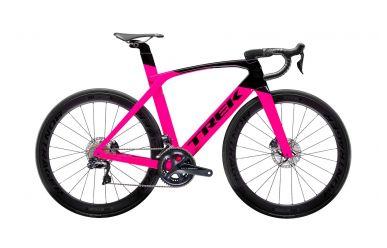 Trek Madone SLR 7 Disc Womens Aero Bike Radioactive Pink Trek Black
