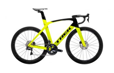 Trek Madone SLR 7 Disc Radioactive Yellow Trek Black Aero Rennrad