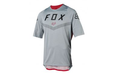 FoxHead Defend SS Fine Line Jersey Steel Grey