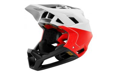 FoxHead Proframe Helm Pistol White Black Red