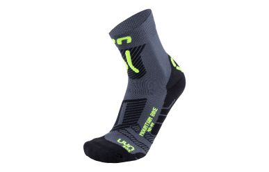 UYN Cycling MTB Man Socks Anthracite Yellow Fluid