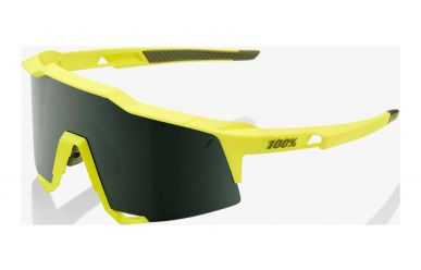 100% Speedcraft Brille, Soft Tact Banana, Grey Green Lense