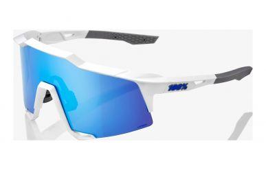 100% Speedcraft Brille, Matte White, HIPER Silver Mirror Lense
