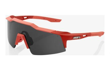 100% Speedcraft SL Brille, Soft Tact Coral, Smoke Lense