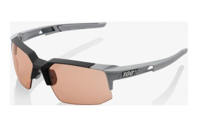 100% Speedcoupe Brille, Soft Tact Stone Grey, HIPER Coral Lense