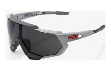 100% Speedtrap Brille, Soft Tact Stone Grey, Smoke Lense