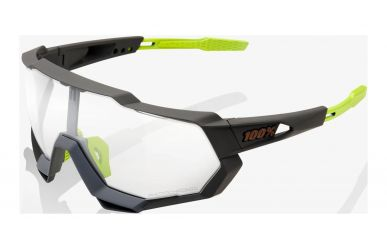 100% Speedtrap Brille, Soft Tact Cool Grey, Photochromic Lense