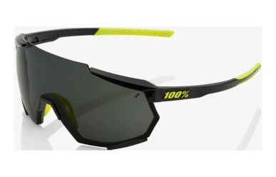 100% Racetrap Brille, Gloss Black, Smoke Lense