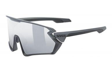 Uvex sportstyle 231 Brille, Gestell Black Grey Matt, Gläser Litemirror Silver