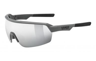 Uvex sportstyle 227 Brille, Gestell Grey Matt, Gläser mirror silver