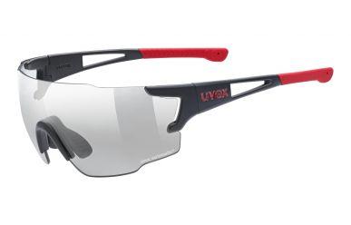 Uvex sportstyle 804 v Brille, Gestell Black Matt Red, Gläser Variomatic