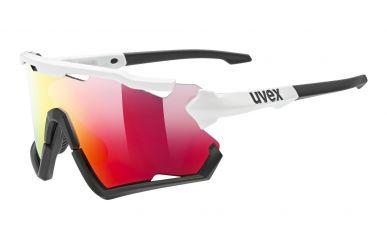 Uvex sportstyle 228 Brille, Gestell White Black Matt, Gläser Litemirror Red
