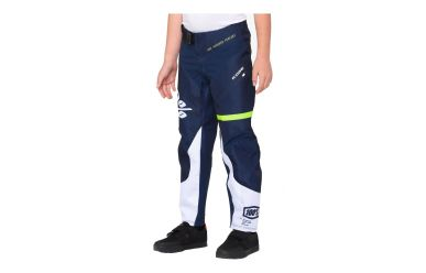 100% R-Core Youth DH Pant Dark Blue Yellow 28