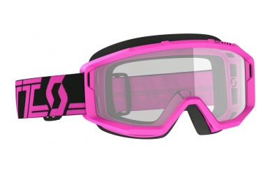 Scott Primal Clear Goggle, Enduro Brille Glas Clear Rahmen Black Pink
