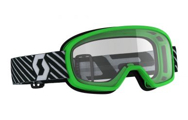 Scott Buzz MX Goggle, Enduro Kinder Brille Glas Clear Rahmen Green