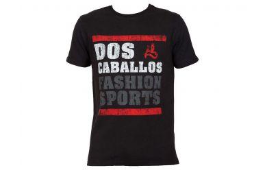 Dos Caballos T-Shirt Schwarz