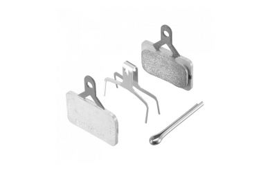 Shimano Scheibenbremsbeläge E01S Metal mit Feder und Sicherungsclip