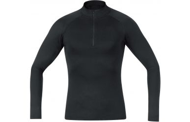 Gore Men Base Layer warmes Unterhemd mit hohem Kragen Black