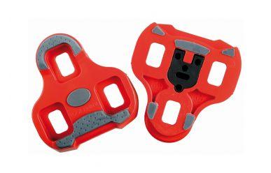 Look Keo Grip Pedalplatten mit Gummipads Rot 9 Grad Auslösewinkel