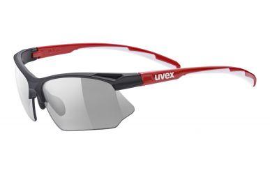 Uvex sportstyle 802 vario Brille, Gestell red white, Gläser supravision, variomatic red