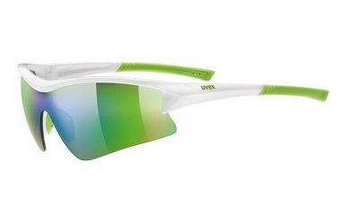 Uvex sportstyle 103 Brille, Gestell white green, Gläser litemirror, clear, litemirror orange, mirror green