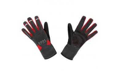 Gore UNIVERSAL WINDSTOPPER® Mid Handschuhe, black/red,11