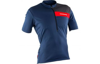 Race Face Podium kurzarm Trikot Navy Flame