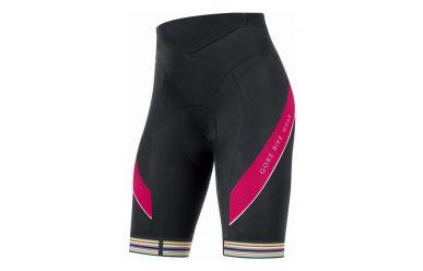 Gore POWER women 3.0 Trägerhose kurz+, black/jazzy pink, 42