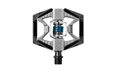 CrankBrothers Double Shot 2 Klick/Plattformpedal Black Raw Blue
