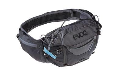 Evoc Hip Pack Pro 3L + 1.5L Trinkblase Black Carbon Grey