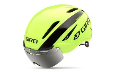 Giro Air Attack Shield Helm Highlight Yellow Black L