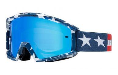 Fox Racing Main Goggle Stripe White Red Blue
