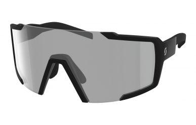 Scott Sunglasses Shield LS Sonnenbrille, Gläser Grey Light Sensitive, Rahmen Black Matt