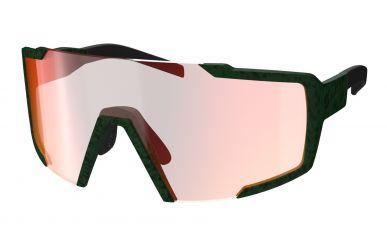 Scott Sunglasses Shield  Sonnenbrille, Gläser Red Chrome Enhancer, Rahmen Iris Green