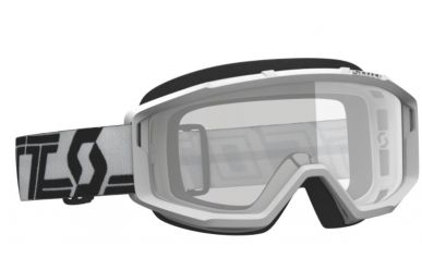 Scott Primal Clear Goggle, Enduro Brille Glas Clear Rahmen White Black