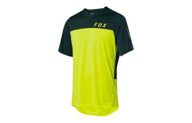 Fox Racing FLEXAIR ZIP SS Kurzarm Jersey Men Flow Yellow